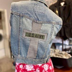 Jean Vest - Wearable Gratitude™ Refashioned WMS LG
